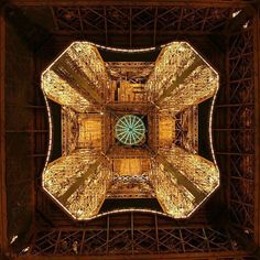 The Eiffel Tower From BELOW ... looks like a view in a kaleidescope...pretty.