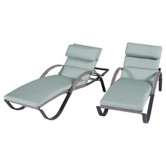 Rst Brands Cannes Stackable Set Of 2 Wicker Chaise Lounge Chairs With Sunsharp Bliss Blue Cushions Patio Chaise Lounge, Patio Seating, Patio Chairs, Chaise Lounges, Lounge Chairs, Wood Patio, Furniture Logo, Patio Furniture Sets, Outdoor Furniture