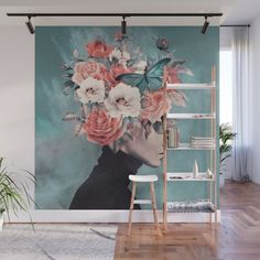 Get Creative Wall Painting Designs & Ideas For A Stylish Home Decor – Farmhouse Room Creative Wall Painting, Creative Walls, Diy Wall Art, Cool Wall Art, Mural Wall Art, Room Interior, Interior Design Living Room, Design Bedroom, Wall Design