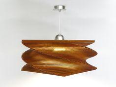 lamparas de carton - cardboard lamps