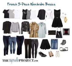 Sample 5 Piece French Wardrobe PLUS 5 Questions to Ask Yourself Before Taking the Capsule Wardrobe Plunge — The Capsule Project