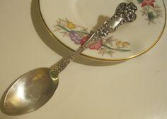 Sterling Silver Watson Bridal Flower Coffee Spoon 1910