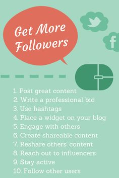 6 Research-Backed Ways to Get More Followers on Twitter, Facebook, G+, and More. This blog by Buffer, another great free social media tool.