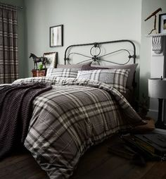 Kelso Charcoal Duvet Cover Set - Double