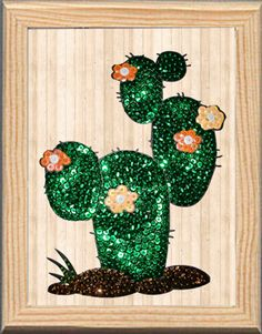 Cactus made with Color Dome pins and sequins. Cactus hecho con alfileres Color Dome y lentejuelas Do It yourself. pinsart.com Art En 2d, Cactus, Pin Art, Jewerly, Sparkle, Sequins, Embroidery, Crystals, Plants