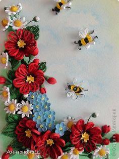 Картина панно рисунок Квиллинг На память о лете  Бумага фото 1