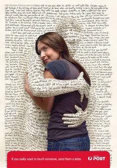 """Publicité de la Poste australienne : """"si vous voulez vraiment toucher quelqu'un, envoyez-lui une lettre"""" 1/2 © DR."""