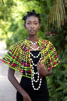 Check Out Aphia Sakyi's Amazing Necklace Collection Inspired By Ghanaian Queens Feat. Top Model Kukua