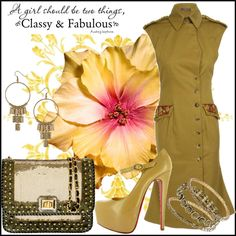 """Cameo Gold"" by jacque-reid on Polyvore"