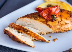 Simple and tasty baked chicken fillet. - My boss cooking How To Cook Chicken, Bbc Good Food Recipes, Keto Recipes, Cooker Recipes, Healthy Recipes, Grilled Chicken, Baked Chicken, Easy Cooking, Kitchens