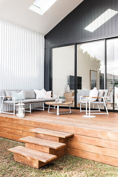 House Cladding, Facade House, Country Interior, Interior And Exterior, Interior Design, Outdoor Furniture Australia, Open Plan Kitchen Living Room, Backyard Pool Designs, Shed Homes