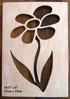 """Beautiful Large Sized Hand Crafted MDF 'Flower' Drawing Template / Stencil - 10.5"""" X 6"""" by Greg Ledder http://www.amazon.co.uk/dp/B00KD3T3T8/ref=cm_sw_r_pi_dp_IgLjvb0BCF2M1"""