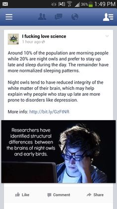Night owls vs. early risers