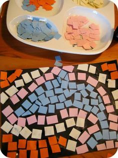 Ancient Greece Crafts -- Paper mosiacs - best done after visiting some inspiring examples.