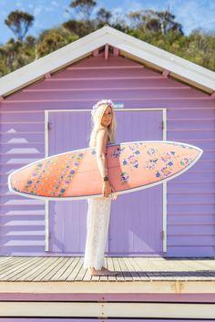 Summer in Purple Barbie Horse, Purple Beach, Summer Breeze, Summer Vibes, Water Activities, Summer Dream, Surf Girls, Surfs Up, Pretty Pastel