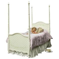 Handpainted Sleeping Beauty Four Poster Bed - Free Shipping! $3,600.00 (USD).  Product in photo is from www.wellappointedhouse.com