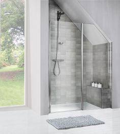 badkamer met schuin dak - Google Search
