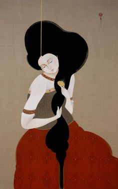 """asylum-art: """" Hayv Kahraman The Saatchi Gallery Hayv Kahraman is an Iraqi artist and painter. Her works reflect the controversial issues of gender, honor killings and war, all issues that plague her home country of Iraq. Hayv currently lives and. Bagdad, Collages, Art Nouveau, Roman Sculpture, Saatchi Gallery, Illustrations And Posters, Traditional Art, Art Lessons, New Art"""