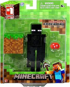 From the hit video game, Minecraft, bring home the Enderman action figure pack. Collect all Series Minecraft action figures. Minecraft Box, Minecraft Blanket, Minecraft Party, Minecraft Bedding, Minecraft Stuff, Minecraft Action Figures, Minecraft Wallpaper, Mega Pokemon, Shopping