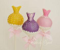 Disney princess dress Cake Pops