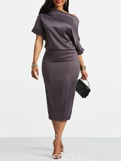 Double-Layered Half Sleeve Boat Neck Women's Bodycon Dress Fashion girls, party dresses long dress for short Women, casual summer outfit ideas, party dresses Fashion Trends, Latest Fashion # Half Sleeve Women, Half Sleeves, Types Of Sleeves, Dresses With Sleeves, Sheath Dress, Bodycon Dress, Casual Dresses, Fashion Dresses, Straight Dress