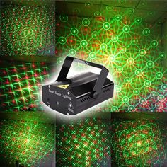 Wonderful R&G Red Green Laser Projector Stage Light Home Party Lights DJ Disco Light US Plug Free Shipping