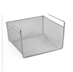 Mesh undershelf basket (small:silver) | Design Ideas
