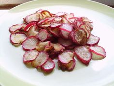 Crispy Baked Radish Chips (Low Fat/Low Carb)
