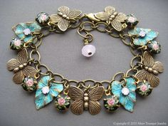 Hey, I found this really awesome Etsy listing at https://www.etsy.com/listing/224310660/butterfly-charm-bracelet-butterfly