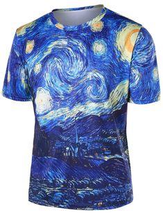 Trippy Landscape Pattern T-shirt