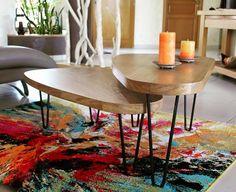 Une table gigogne avec deux deux bateaux en bois en 4 pieds en épingle/hairpin legs Ripaton ! Plusieurs tailles et couleurs disponibles sur le site internet Ripaton.fr