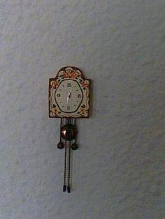 CASAS DE MUÑECAS-(TALLER) - TUTORIAL DE Reloj de pared de granizonieves / Küchenuhr