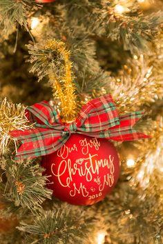 Diy Newlywed Christmas Ornaments