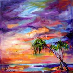 oil beach painting - Google Search