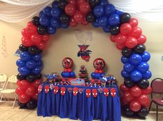 Spider Man table set up with Arch                                                                                                                                                                                 More