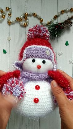 Snowman Christmas Snowman decor Snowman decor toy Snowman toy – Best Baby And Baby Toys Diy Christmas Videos, Christmas Crafts To Make, Christmas Snowman, Handmade Christmas, Crochet Christmas Decorations, Christmas Crochet Patterns, Christmas Knitting, Snowman Christmas Decorations, Crochet Snowman