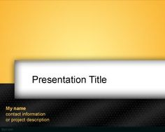 Free Black and Orange PowerPoint template