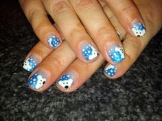 Polar bear winter nail art