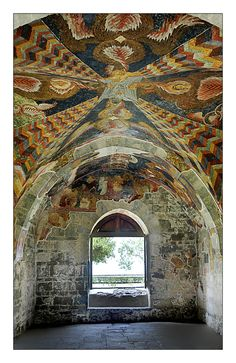 tilework on groin vaulting in thousands of mosaics  Hagia Sophia in Trabzon, Turkey