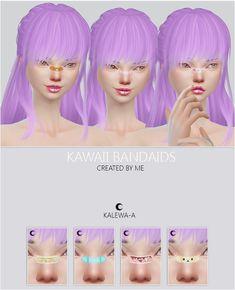 Kawaii Bandaids at Kalewa-a via Sims 4 Updates