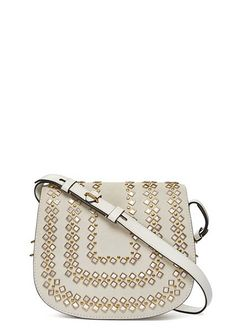 Tory Burch Mirrored Medium Saddlebag- every inch of it is chic! How To Make Handbags, Purses And Handbags, Fashion Bags, Fashion Shoes, Tote Purse, Crossbody Bags, My Bags, Saddle Bags, Tory Burch