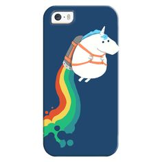 iPhone 6 Plus/6/5/5s/5c Bezel Case - Unicorn on Rainbow Jetpack ($35) ❤ liked on Polyvore featuring accessories, tech accessories, iphone case, apple iphone cases, iphone cover case and rainbow iphone case