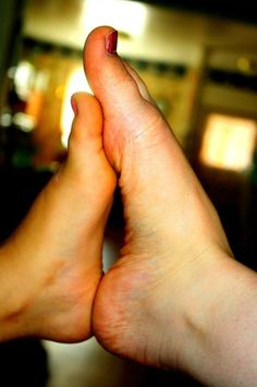 I remember doing this with my feet to yours... :)