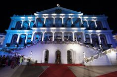 The venue all lighted up for the occasion. #premiumdestinationweddingplanner