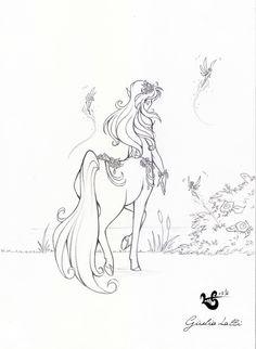 Centaurette - Mantova Comics sketch 3