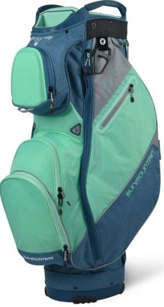 Sun Mountain Ladies 2021 Sync Golf Cart Bags - Spruce Heather/Ice/Cadet