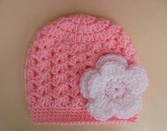Del ganchillo sombrero del bebé sombrero de la muchacha