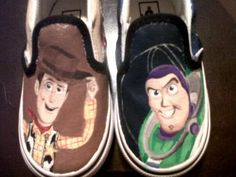 Buzz n Woody Hand Painted Shoes.