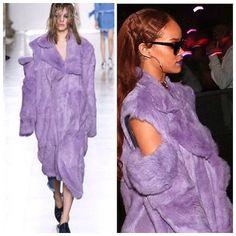 Purple Friday! #purplehaze #purplefriday #goravens #baltimore #marquesalmeida #purple #fur #coat #rhianna #riri #purplelips #assymetrical #bareshoulders #runway #streetstyle#keepitchic #globalstyle #furstyle #manoswartz #est1889