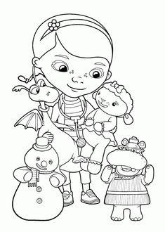 Doc Mcstuffins Christmas Coloring Pages